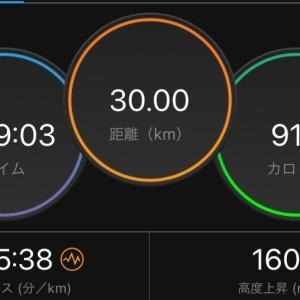 朝ラン 30キロ