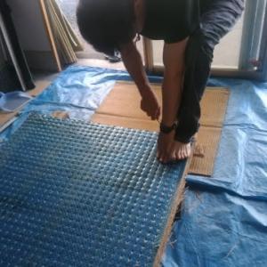 建設労働組合畳練習