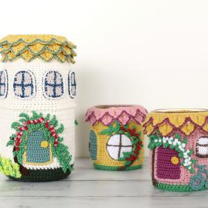 編みハウス 3軒建ちました♪