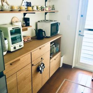 unicoのキッチンキャビネットその後。