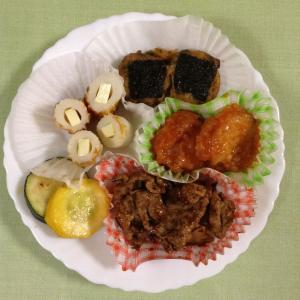 豚焼肉と鶏の磯辺焼き