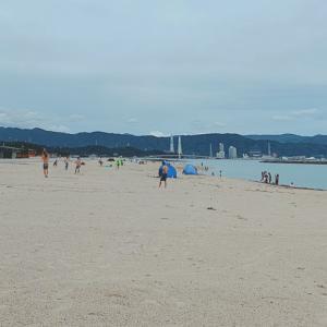 療育再開と砂浜へ