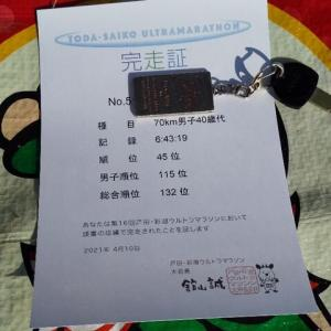 【速報】彩湖ウルトラマラソン70km