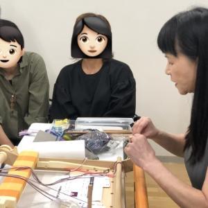 箕輪先生のブログでご紹介頂いたポーチにはカード織りの紐を加えてみました。