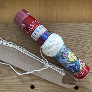 板杼に残った糸の玉巻修行からの新たなの取り組み開始。