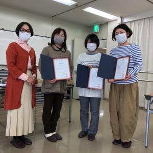 リビングアート手織りクラブ 3名の生徒さんが認定を受けられました。
