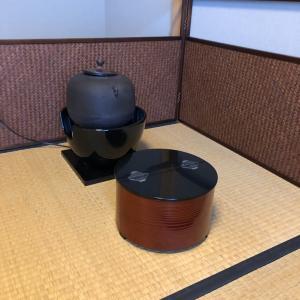 お茶のお稽古~割り蓋の平水差しと洗い茶巾~