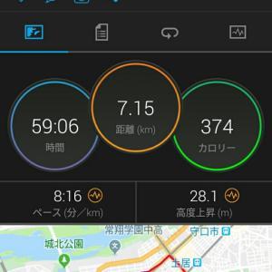 11月22日(大阪市7.1km)ウォーキング 足の経過