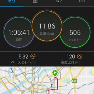 6月6日(大阪市11.8km)通勤ラン