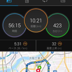 10月27日(大阪市10.2km)