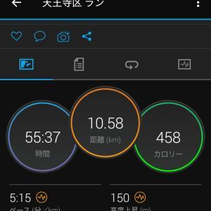 6月12日(大阪市10.5km)昨日の帰宅ラン