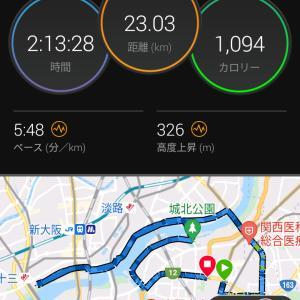 7月3日(大阪市23km)