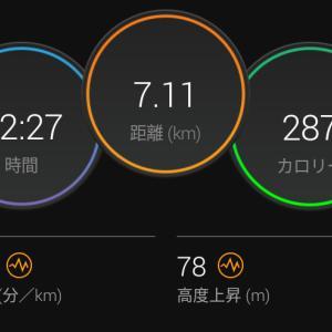 7月9日(大阪市7.1km)100km達成!