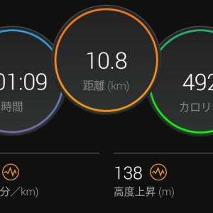 7月17日(大阪市10.8km)通勤ラン