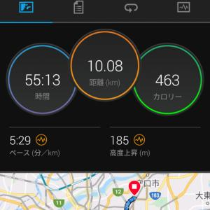 7月19日(大阪市10km)帰宅ラン