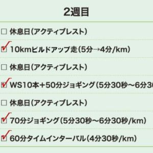 9月26日(大阪市16km)60分インターバル
