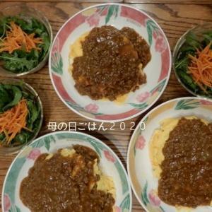 母の日ご飯はオムライスキーマカレーがけ。いつまで作ってもらえるより作ってあげる方なんだろ。と思いつつ親孝行できて幸せですよね。