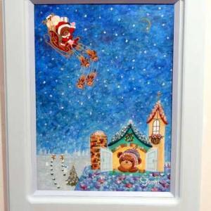 メリークリスマス!皆様に良いことがありますように。今夜サンタさん来るかな?の絵を送ります。