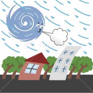 台風の影響が出て来た💦