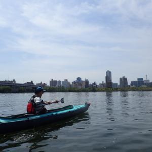 カヤックの試乗と淀川カヌー体験