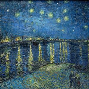 ゴッホの「星降る夜」に呼応する