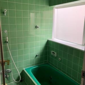ファーストクラスのお風呂がやってくる。今日が最後だねとお風呂にキス