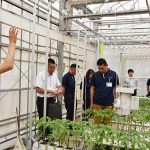 千葉大学の植物工場にて、JA東西しらかわの営農指導員が研修プログラムを受講
