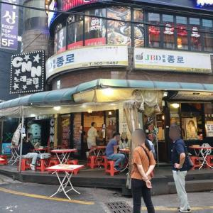 仁川のマッコリを飲みながら チヂミで3次会 JBD鍾路ピンデット「JBD종로빈대떡」