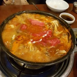 キノコたっぷり 韓国風?しゃぶしゃぶ食べてきました。 ウニャンシャブシャブ「운향 샤브샤브」