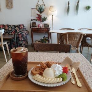 【龍仁】 cafe fillette「카페 피에트」 スヌーピー ^^ 可愛いスヌーピーのワッフル食べてきました