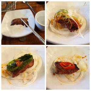 【龍仁】 カルビダ「갈비다」コスパすごいです カルビ+テンジャンチゲ+冷麺+サラダ 11900W
