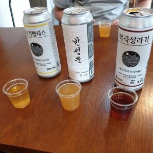 【おやじ韓国地方旅】 カナダラブルワリー「가나다라브루어리」 マッコり、ワインと来たので 次はオミジャで作ったビール 飲んできました