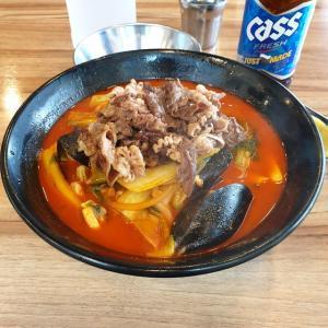 【龍仁】 コチュチャンポン「고추짬뽕」 牛さん入った 韓国チャンポン食べてきました。
