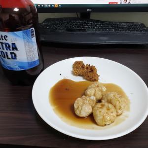 【韓国家ごもり】 おやじ御飯 エビ団子にも挑戦 & 変なカレー南蛮蕎麦