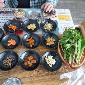【おやじ韓国地方旅 華城】 ウロンハンサム「우렁한쌈」朝ごはんは野菜たっぷり サムパッ