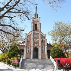【おやじ韓国地方旅 温陽】 貢税里聖堂「공세리성당」 韓国ドラマでもよく使われてる 美しい聖堂に行ってきました