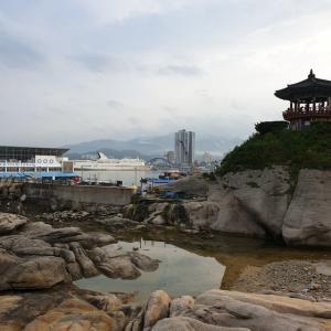【おやじ韓国地方旅 束草】 霊琴亭「영금정」 韓国側から日本海を見てみました ^^ 青い海の伝説 のロケ地も