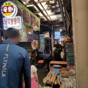 久しぶりに来ました 鍾路5街 広蔵市場でユッケタンタンイ食べます。 チャンシンユッケ 「창신육회」