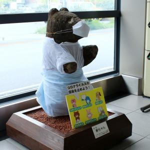JR新琴似駅にある熊の石像「新ちゃん」。その歴史とコロナウィルス感染対策