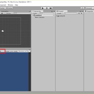 スマホ向けゲームを作ろう - JackpotDig - <2>サイズを調整、画像をとりあえず張ってみよう