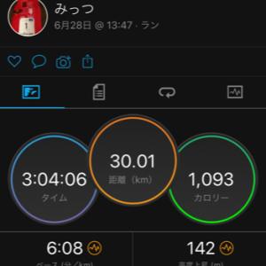 練習メニュー変更で雨上がり30kmジョグ