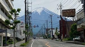 富士登山競走五合目試走