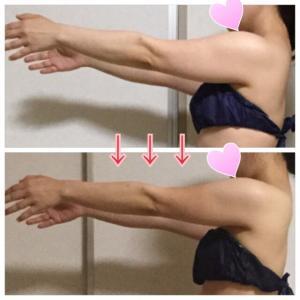 たった1ヶ月半でぱつぱつだった二の腕が細くなりました