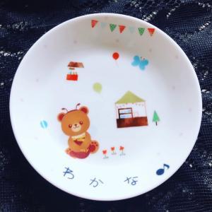 お孫ちゃんが遊びに来た時に使うお皿をポーセラーツで手作り♡