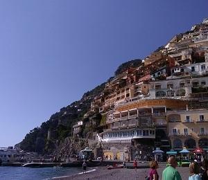 イタリア アマルフィ海岸の美しきポジターノ