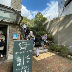 神戸布引ハーブ園に行ってみた。