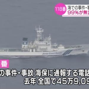 118番は海の事故の緊急電話!