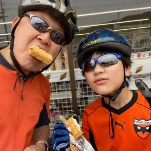 奈良までムスコとサイクリング。