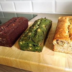 【三種のパウンドケーキ 】