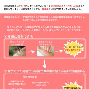 雨季の要注意:蜂窩織炎を知っていますか?